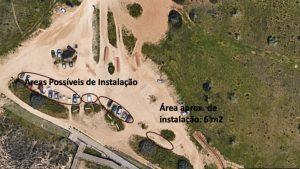 Praia Grande de Pera – Satellitenaufnahme vom Strandabschnitt für Strandliegenverleih. Foto: André Bischoff