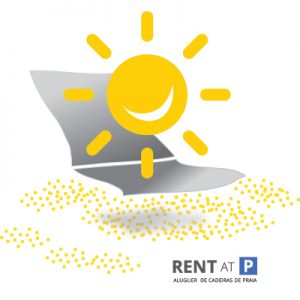 "Logo: ""Rent at P - aluguer de cadeiras de praia. Foto: André Bischoff"