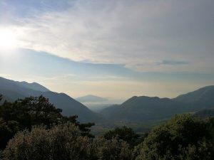 Blick über den Llogara Nationalpark, Foto: Victoria Schöndelen