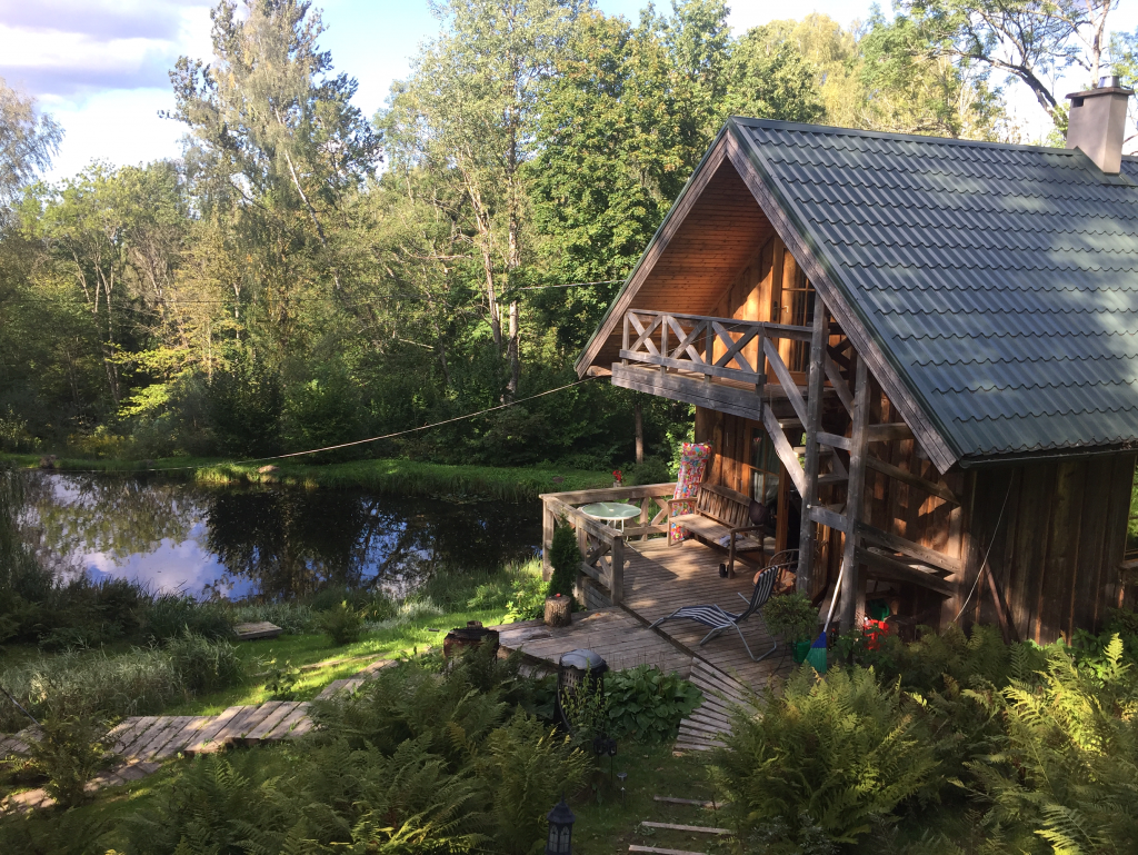 Airbnb-Unterkunft im Nationalpark Gauja Lettland (Foto: Ksenia Felker)