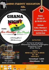 Um den Zusammenhalt der ghanaischen Studieren-den zu vertiefen, werden in Kiel zahlreiche Veranstal-tungen angeboten. Foto: Facebook