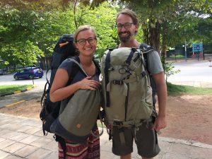 Magda und Olli bei ihrer Abreise aus Sri Lanka (Foto: www.weltreiselust.de)