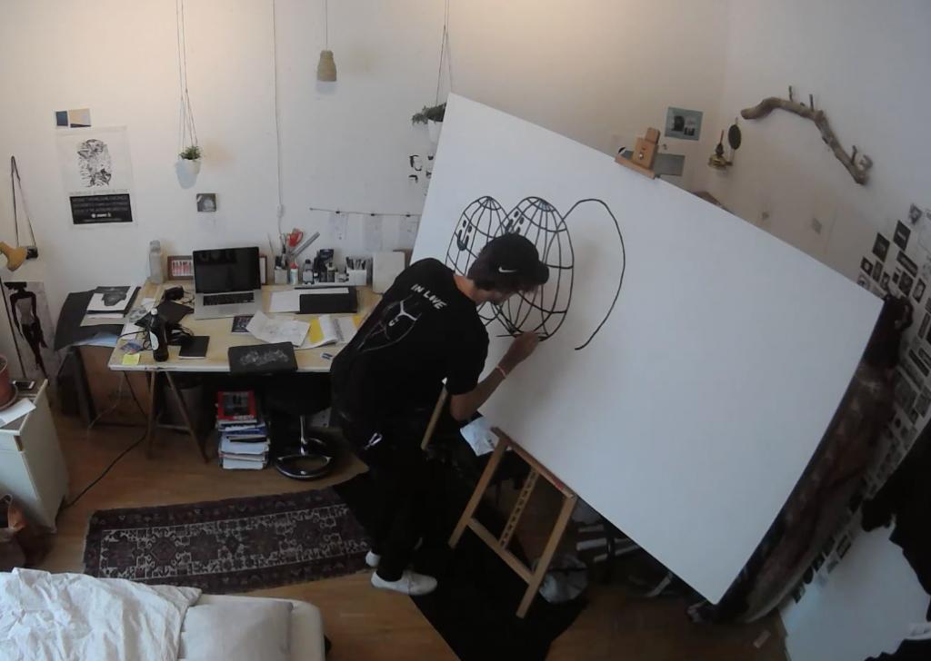 Pusher Tony in seinem Atelier.