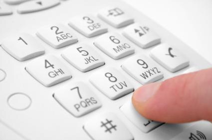 finger presses figure on phone