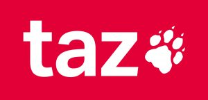 taz, die Tageszeitung, 20170815 xl 1144-taz-logo-2017, CC BY-SA 4.0