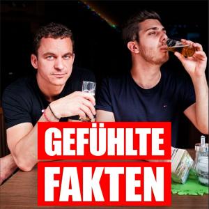 """Einmal in der Woche erscheint eine neue Folge des Comedy-Podcasts """"Gefühlte Fakten"""" von Christian Huber (links) und Tarkan Bagci rechts) Foto: Gefühlte Fakten"""